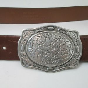Carhartt Accessories - Carhartt Leather Belt Pewter Buckle 38 Western Bri